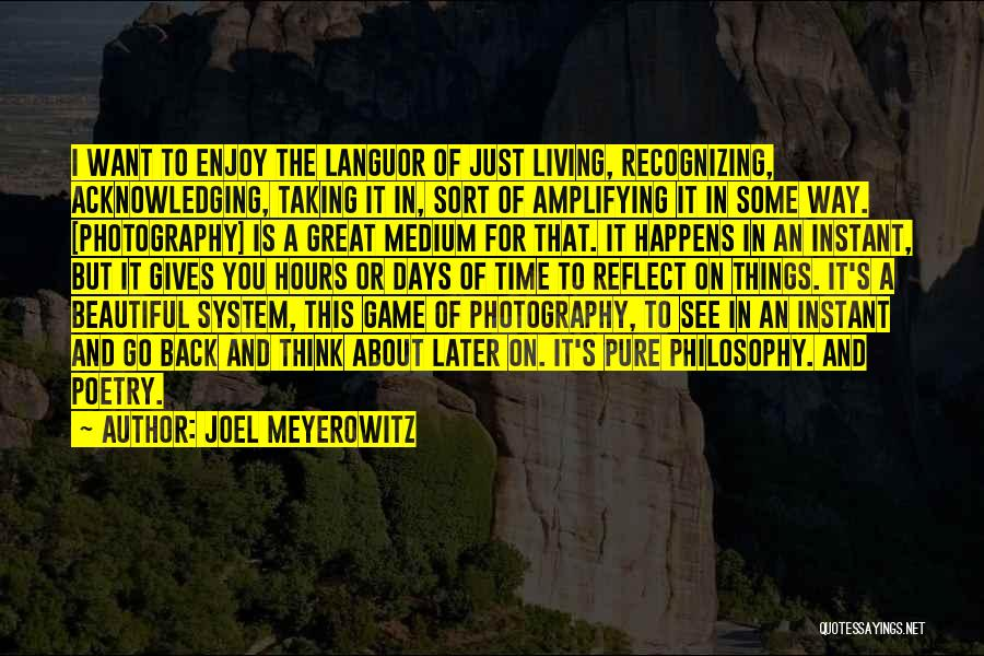 Go Back In Time Quotes By Joel Meyerowitz