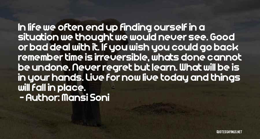 Go Back In Time Quotes By Mansi Soni