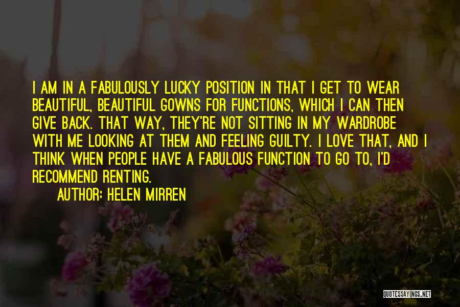 Go Back Love Quotes By Helen Mirren