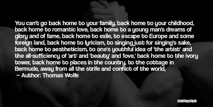 Go Back Love Quotes By Thomas Wolfe