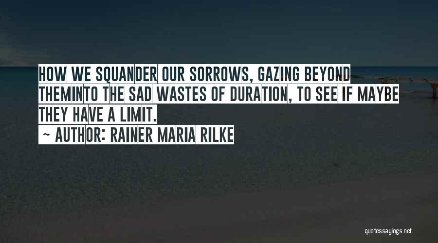 Go Beyond The Limit Quotes By Rainer Maria Rilke