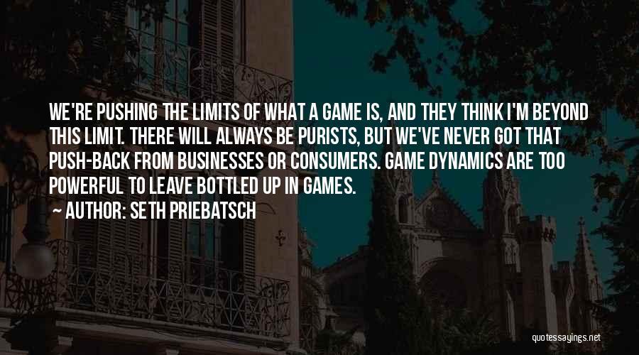 Go Beyond The Limit Quotes By Seth Priebatsch