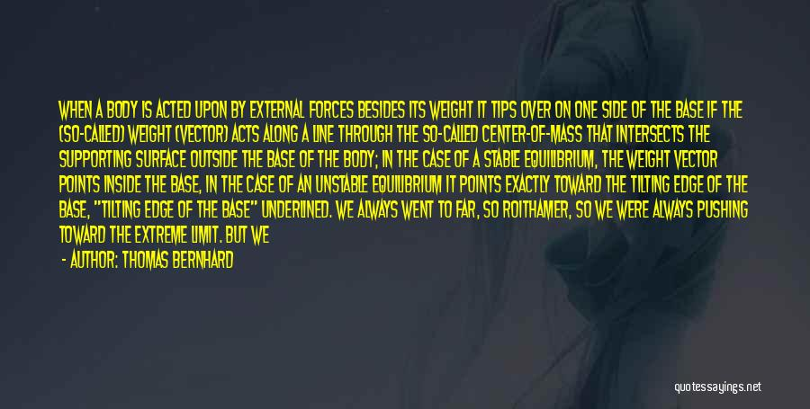 Go Beyond The Limit Quotes By Thomas Bernhard