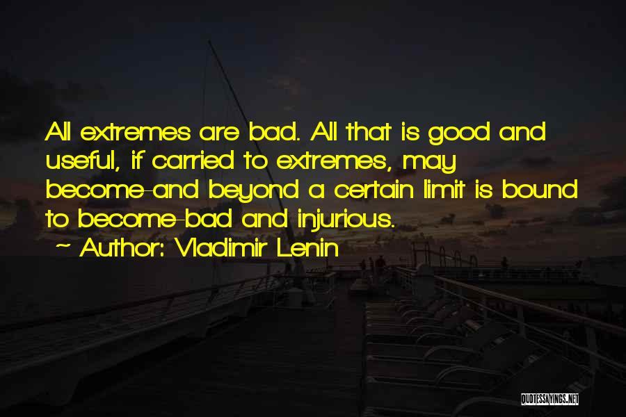 Go Beyond The Limit Quotes By Vladimir Lenin