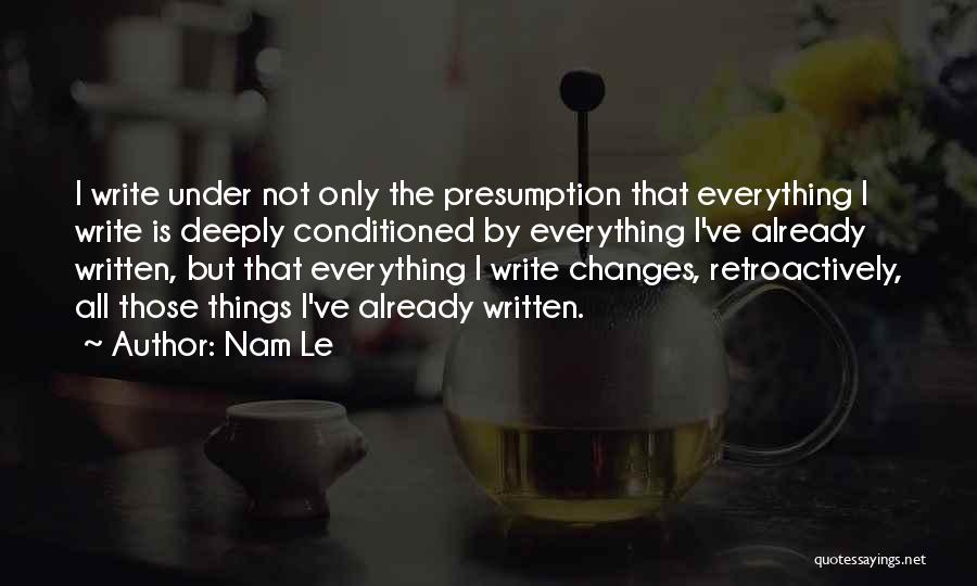 Go Nam Soon Quotes By Nam Le