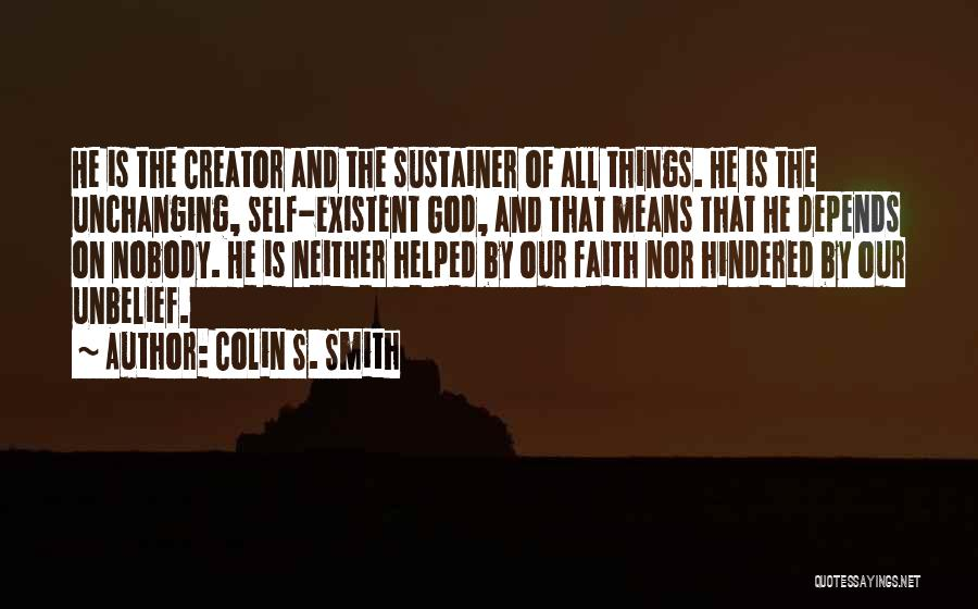 God As Creator Bible Quotes By Colin S. Smith