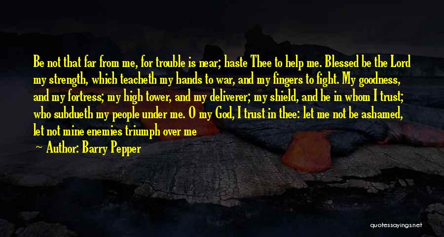 God Blessed Me Quotes By Barry Pepper