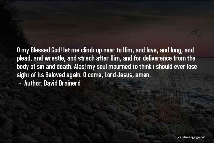 God Blessed Me Quotes By David Brainerd