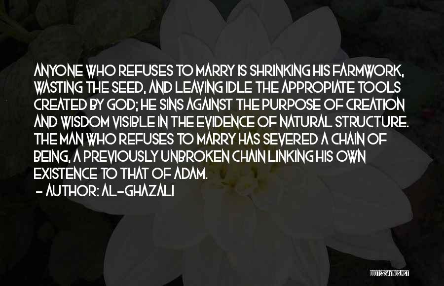 God Created Man Quotes By Al-Ghazali