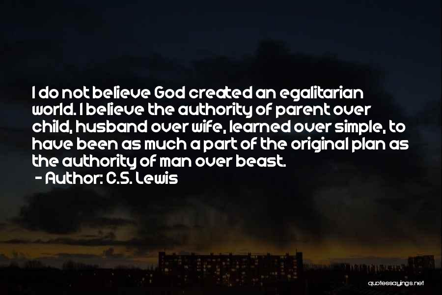 God Created Man Quotes By C.S. Lewis