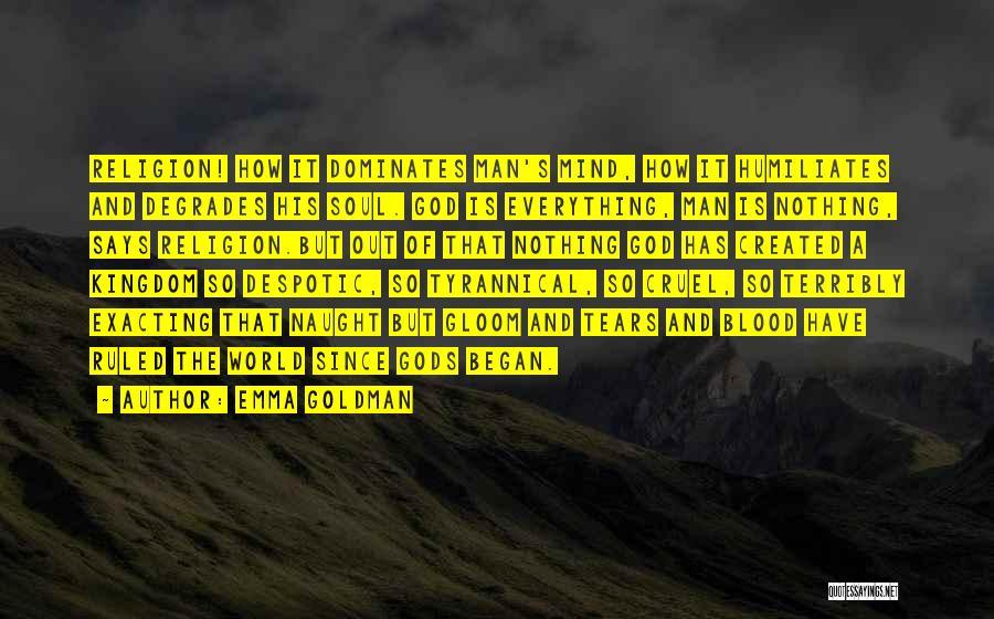 God Created Man Quotes By Emma Goldman