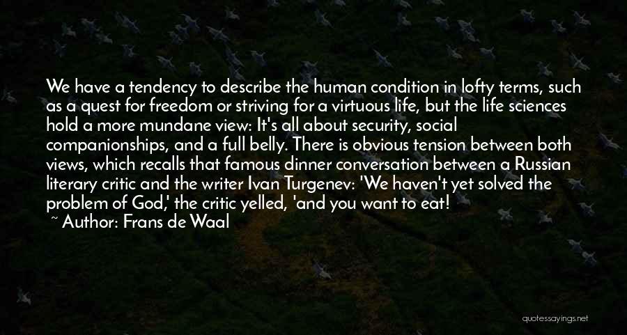 God Famous Quotes By Frans De Waal