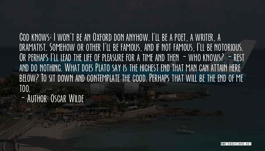 God Famous Quotes By Oscar Wilde