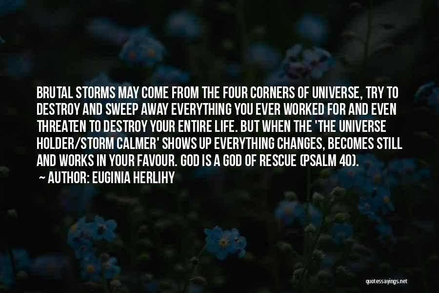 God Favour Quotes By Euginia Herlihy