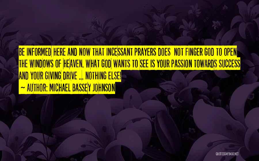 God Giving Success Quotes By Michael Bassey Johnson
