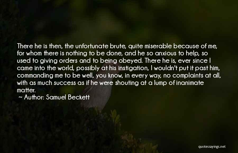 God Giving Success Quotes By Samuel Beckett
