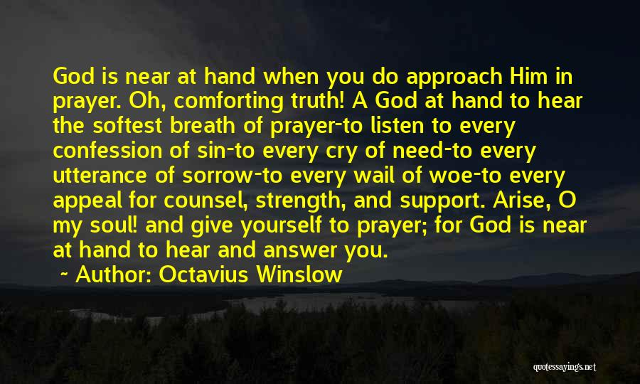 God Giving Us Strength Quotes By Octavius Winslow