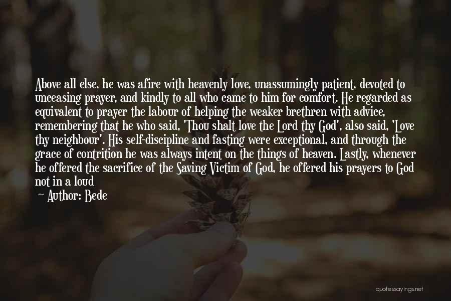 God Grace And Love Quotes By Bede