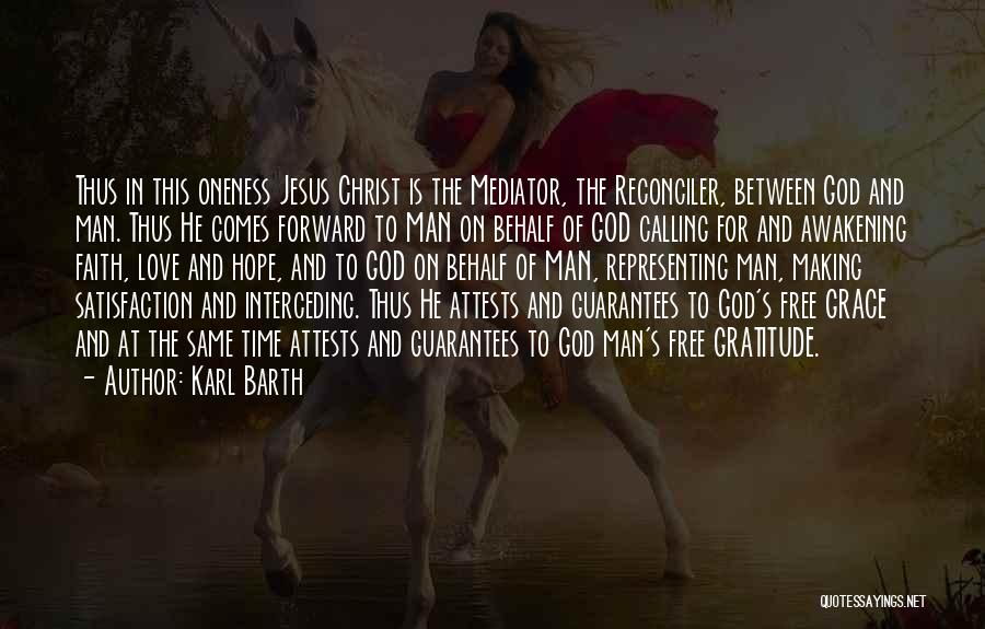 God Grace And Love Quotes By Karl Barth