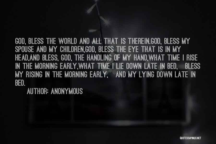 God Handling Things Quotes By Anonymous