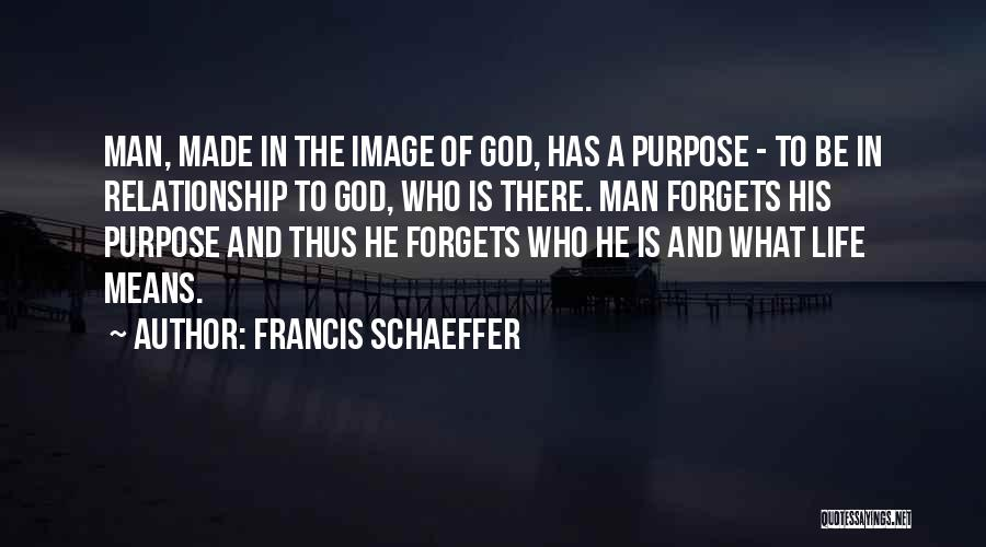 God Has A Purpose Quotes By Francis Schaeffer