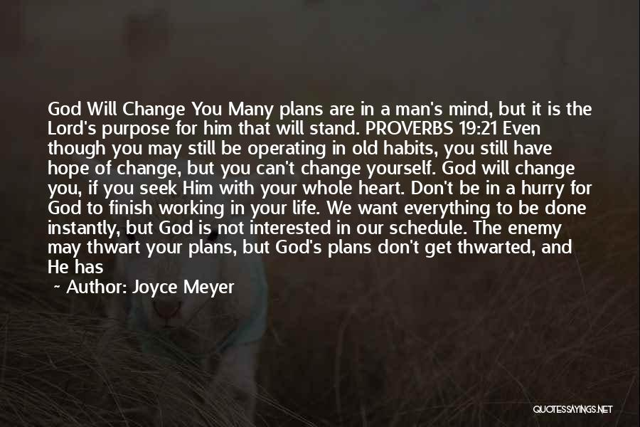 God Has A Purpose Quotes By Joyce Meyer