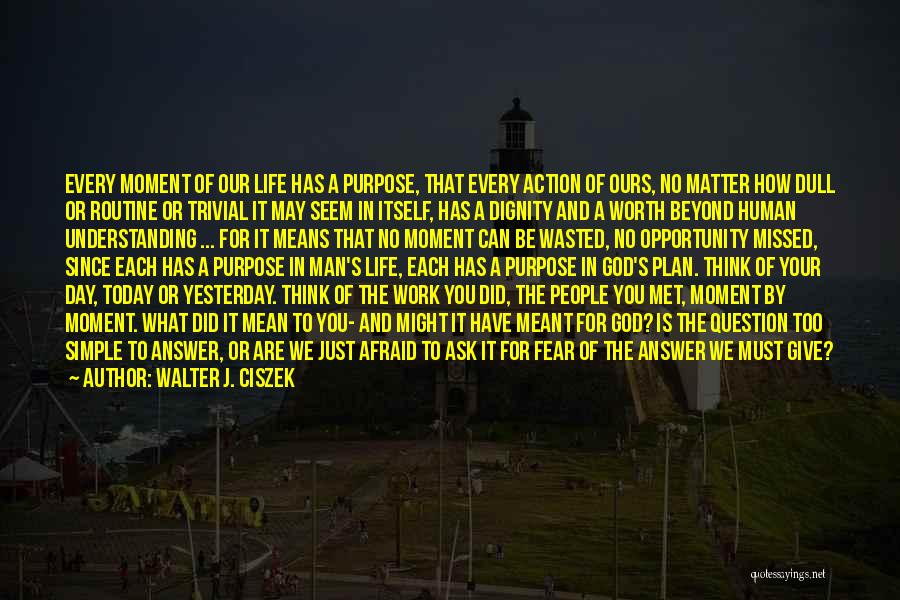 God Has A Purpose Quotes By Walter J. Ciszek