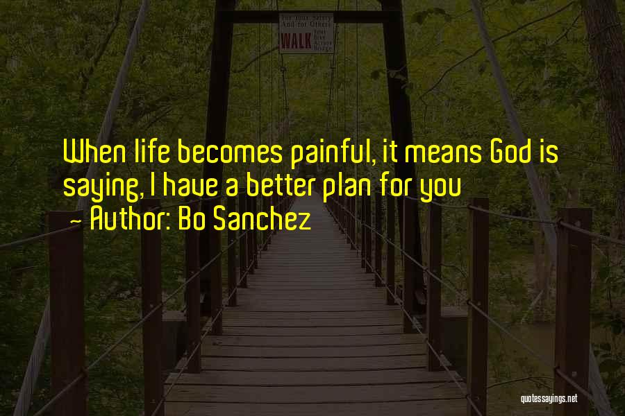 God Has Plans For You Quotes By Bo Sanchez