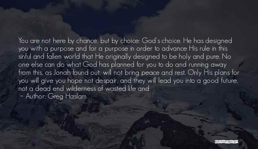 God Has Plans For You Quotes By Greg Haslam