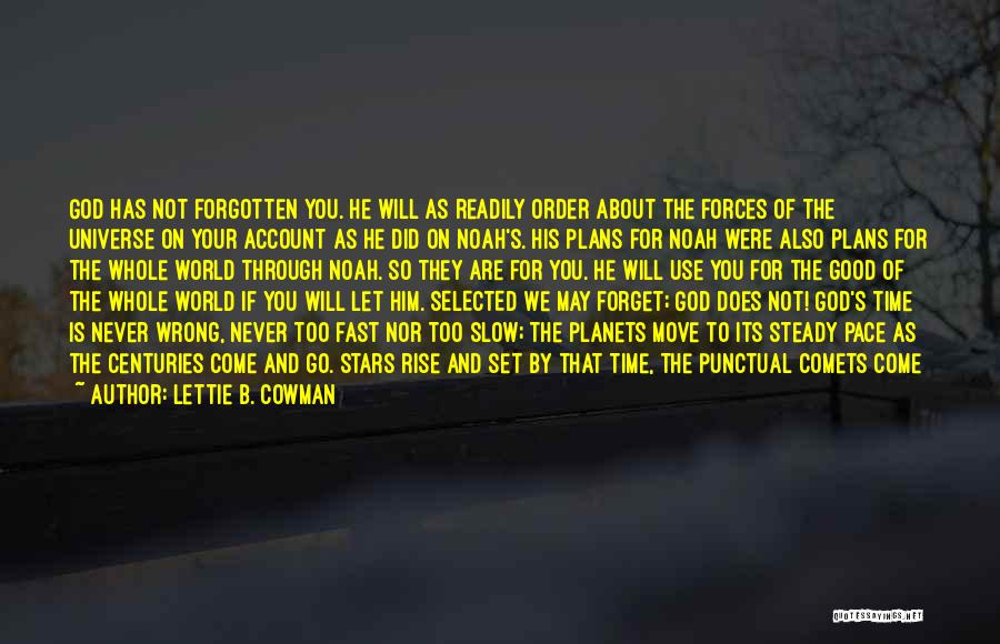 God Has Plans For You Quotes By Lettie B. Cowman