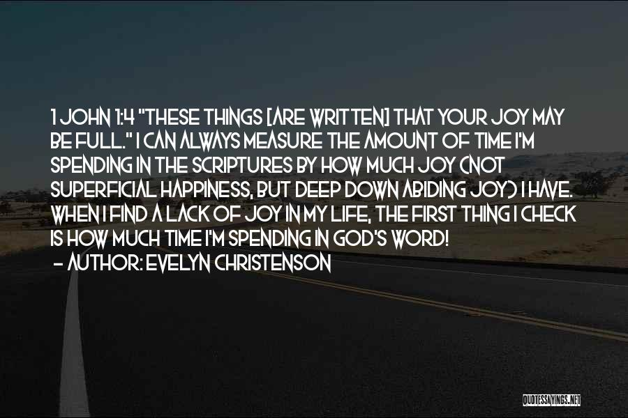 God Is 1 Quotes By Evelyn Christenson