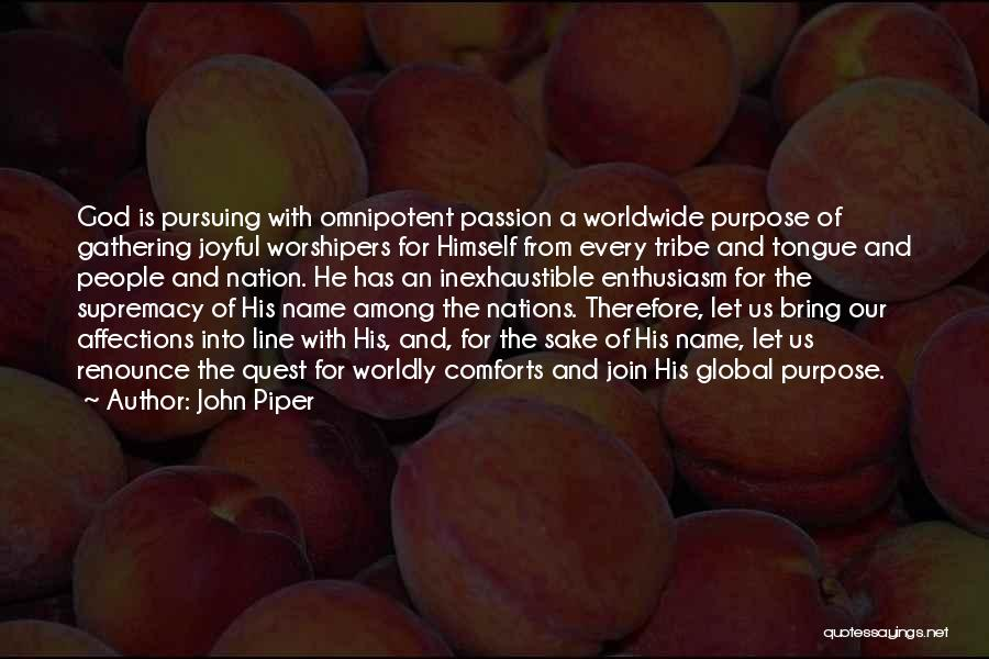 God Is For Us Quotes By John Piper
