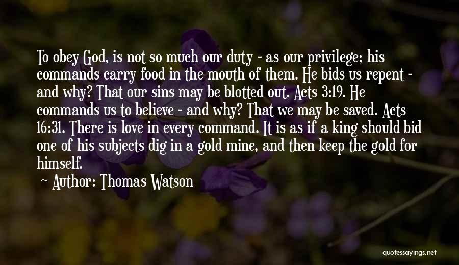 God Is For Us Quotes By Thomas Watson