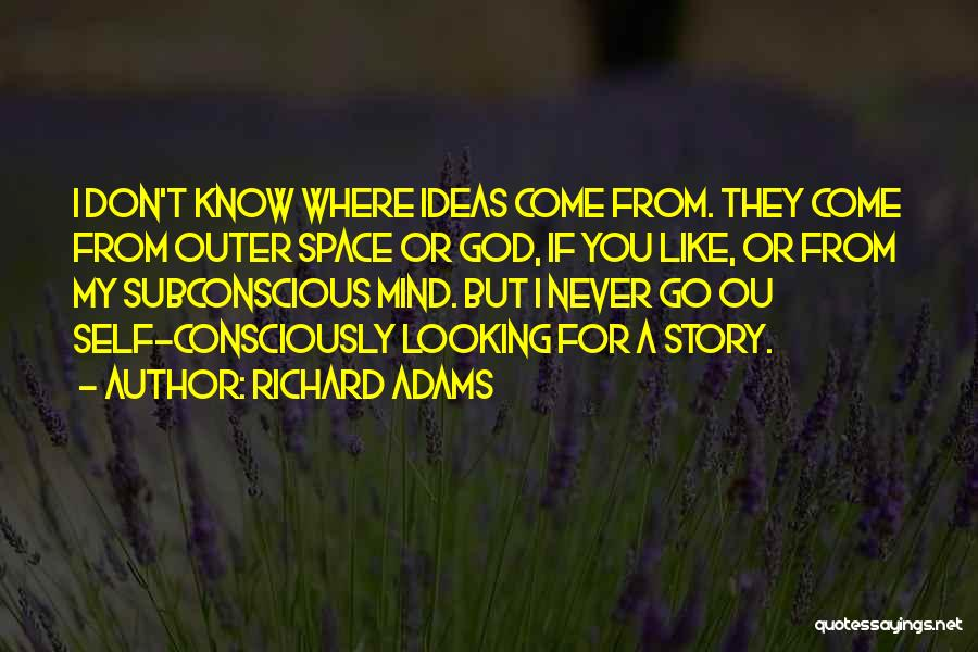 God Is Looking Out For Me Quotes By Richard Adams