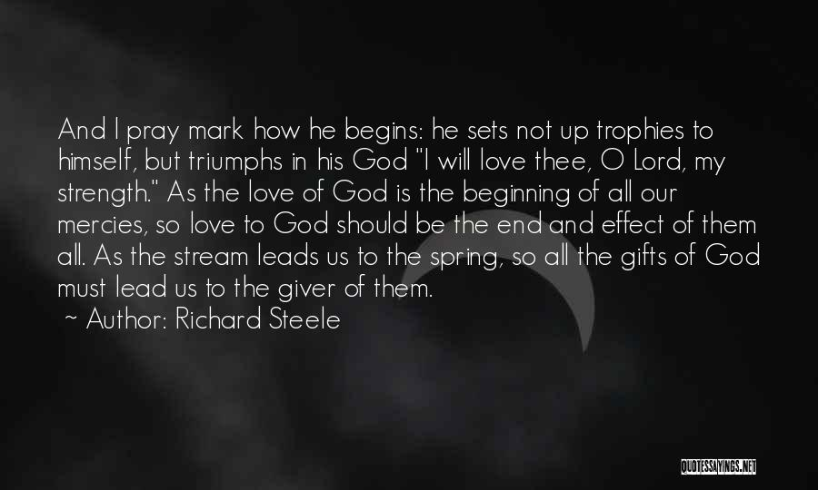 God Is Strength Quotes By Richard Steele
