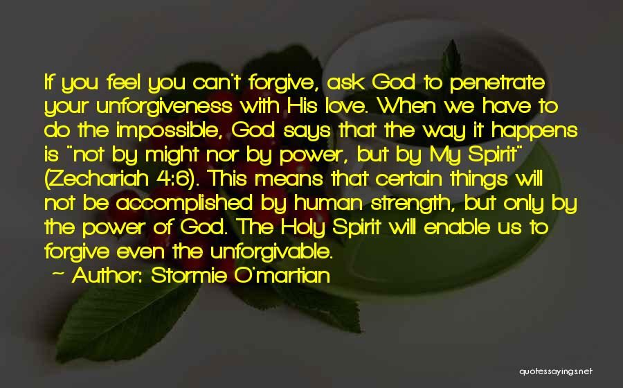 God Is Strength Quotes By Stormie O'martian
