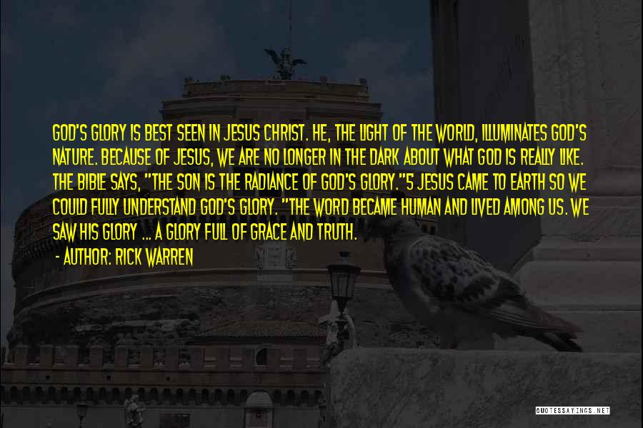 God Is The Light Of The World Quotes By Rick Warren