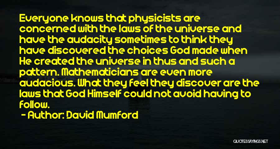 God Knows The Best For Us Quotes By David Mumford