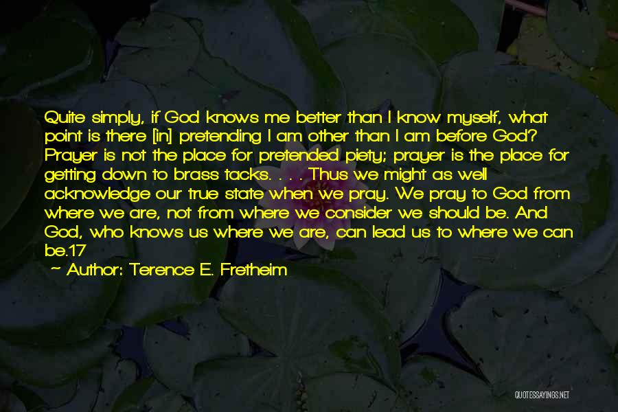God Knows The Best For Us Quotes By Terence E. Fretheim