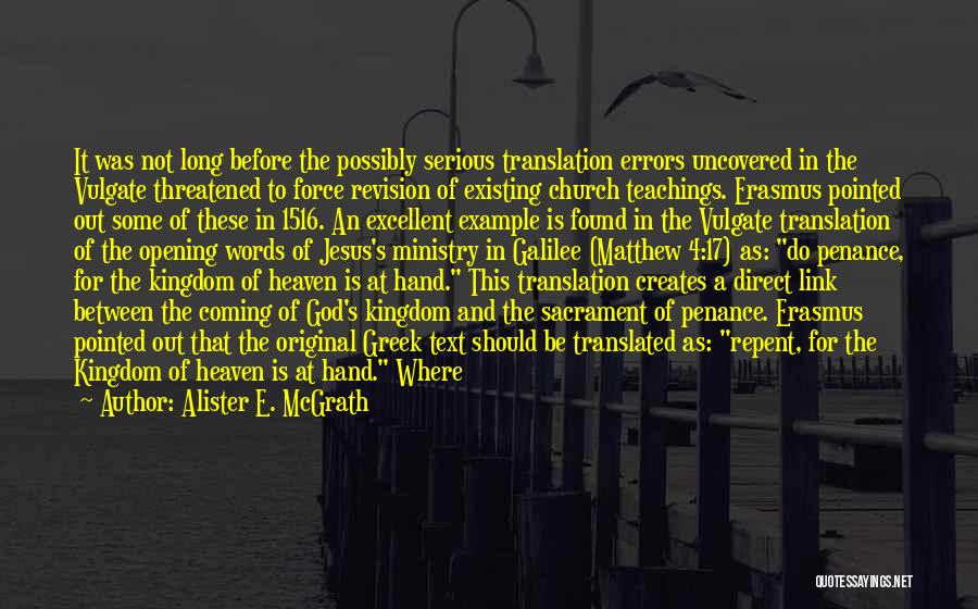 God Not Existing Quotes By Alister E. McGrath