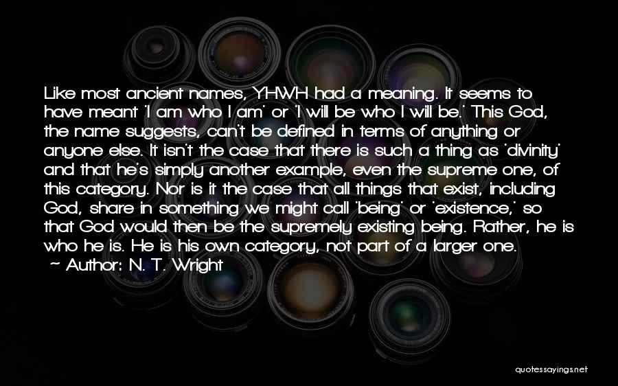 God Not Existing Quotes By N. T. Wright