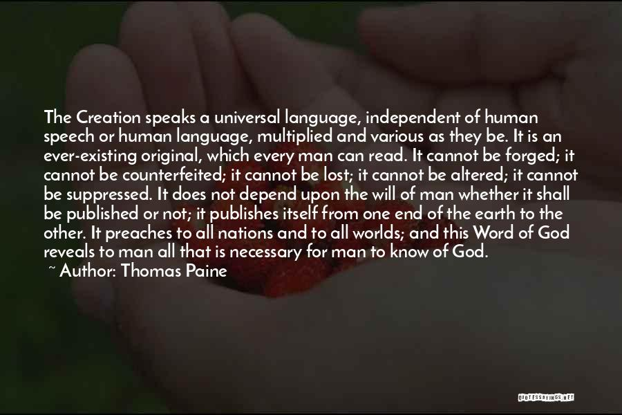 God Not Existing Quotes By Thomas Paine