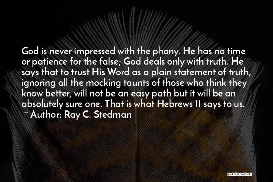 God Says No Quotes By Ray C. Stedman