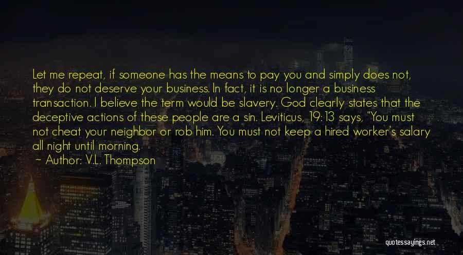 God Says No Quotes By V.L. Thompson
