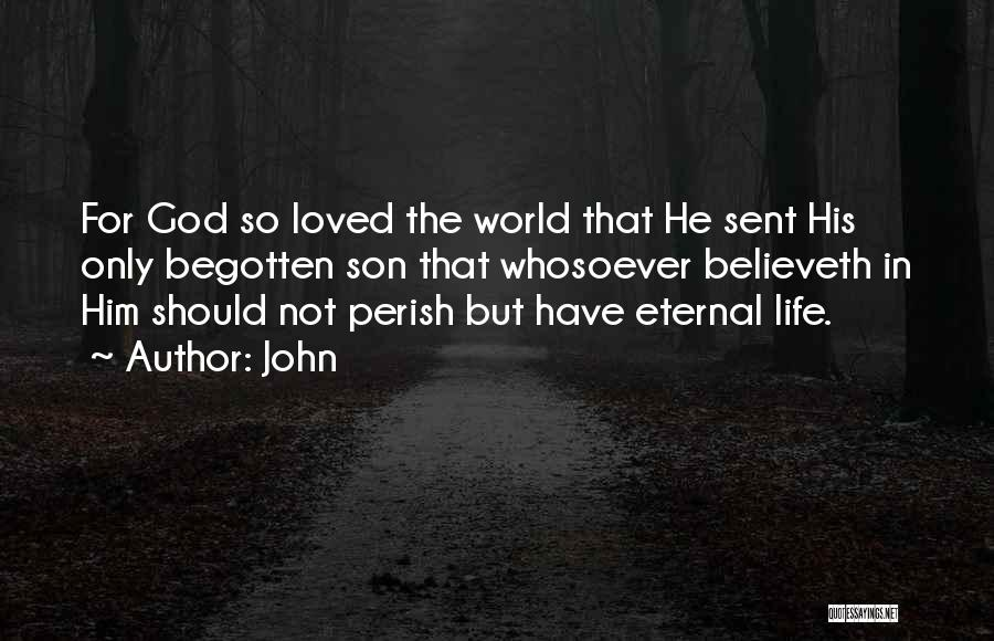 God Sent His Son Quotes By John
