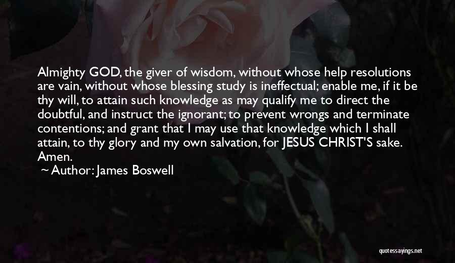 God Use Me Quotes By James Boswell