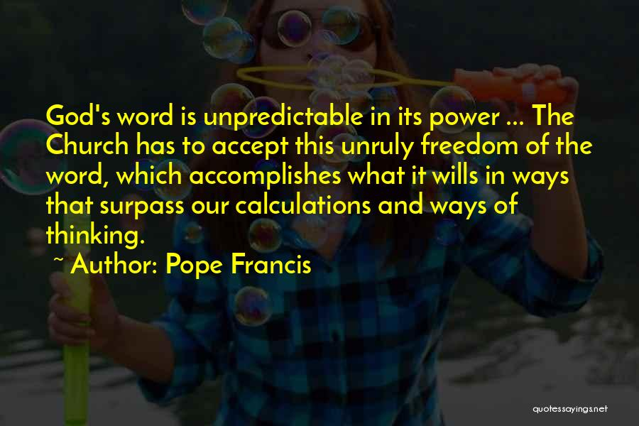 God Wills Quotes By Pope Francis