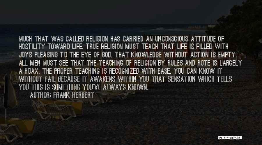 God Without Religion Quotes By Frank Herbert