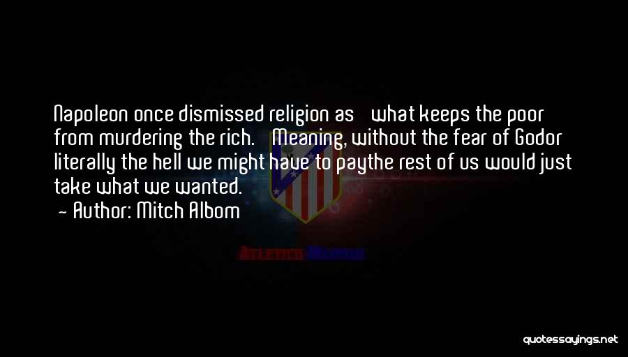 God Without Religion Quotes By Mitch Albom
