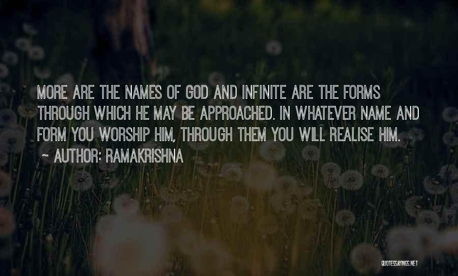 God Worship Quotes By Ramakrishna